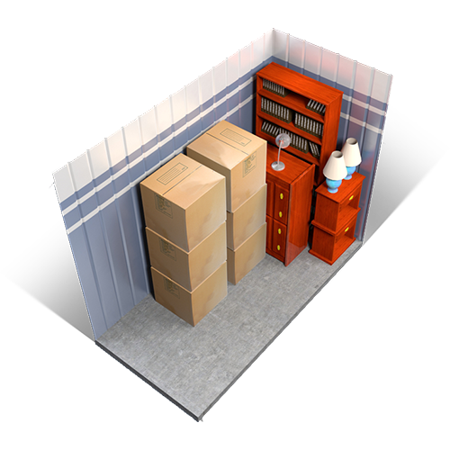 5x5 size guide for self storage units
